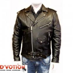 Blouson cuir Perfecto 113 noir
